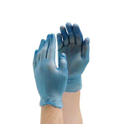 Manusi ambidextre vinil bleu